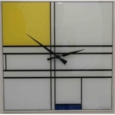 "Piet Mondriaan - Klok ""Composition in Blue and Yellow""."