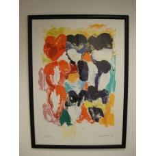 "Jan Cremer - Zeefdruk ""La palette des Tulipes II"""