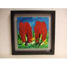 """Schilderij Ad van Hassel """"Rode Tulpen"""""""