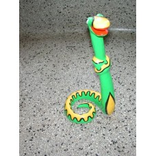 Snake middel standing Green&Yellow