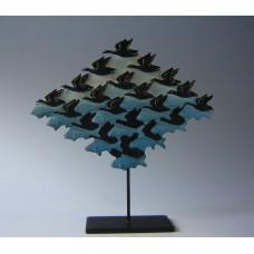 Escher beeld vis vogel lucht