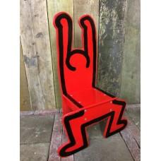 Keith Haring Kinderstoel Rood