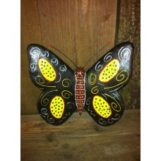 Raimundo Sculpture Butterfly Black
