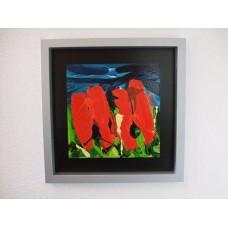 """Schilderij Ad van Hassel """"Rode Tulpen 4"""""""