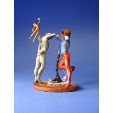 Sculptuur De poezie van Amerika - De kosmische atleten