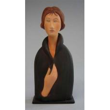Sculptuur Femme aux yeux bleus