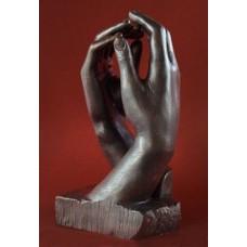 Sculptuur La Cathedrale van Rodin