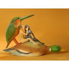 Sculptuur Liefdespaar op Eend