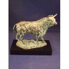 Sculptuur Stier brons