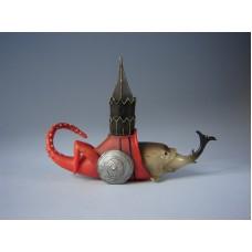 Sculptuur Vis met toren