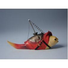 Sculptuur Vis met mast
