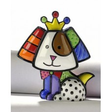 Verzamelbeeldje Romero Britto # 7 - Royal Dog Royalty.