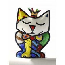 Verzamelbeeldje Romero Britto # 10 - Cat with crown Princess.