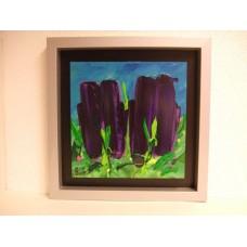 """Schilderij Ad van Hassel """"Paarse Tulpen"""""""