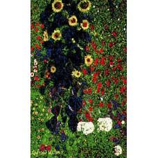 Vloerkleed Gustav Klimt 80x120 cm. Flowers.