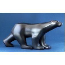 Sculptuur Pompon Ijsbeer zwart.