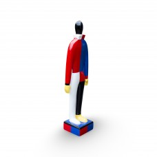Malevich Russian Dancer small Blue/Red