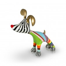 Stretching Dog Billy Multi Color Gold middel